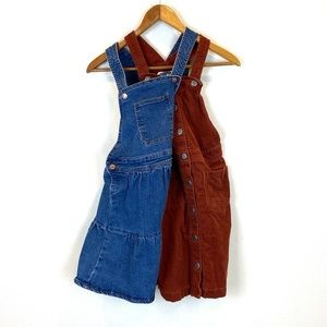 Set of 2 overall dresses: Sizes 10/12